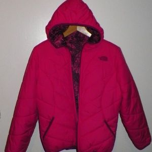 Girl's L 14 16 The North Face Reversible Jacket